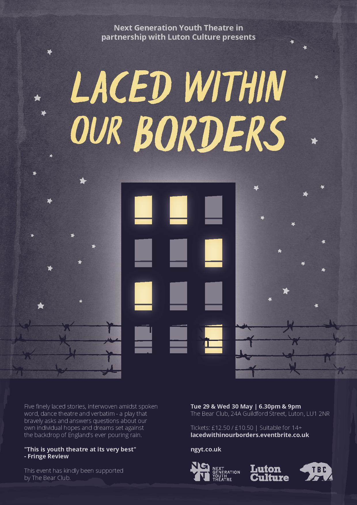 Laced within our borders poster